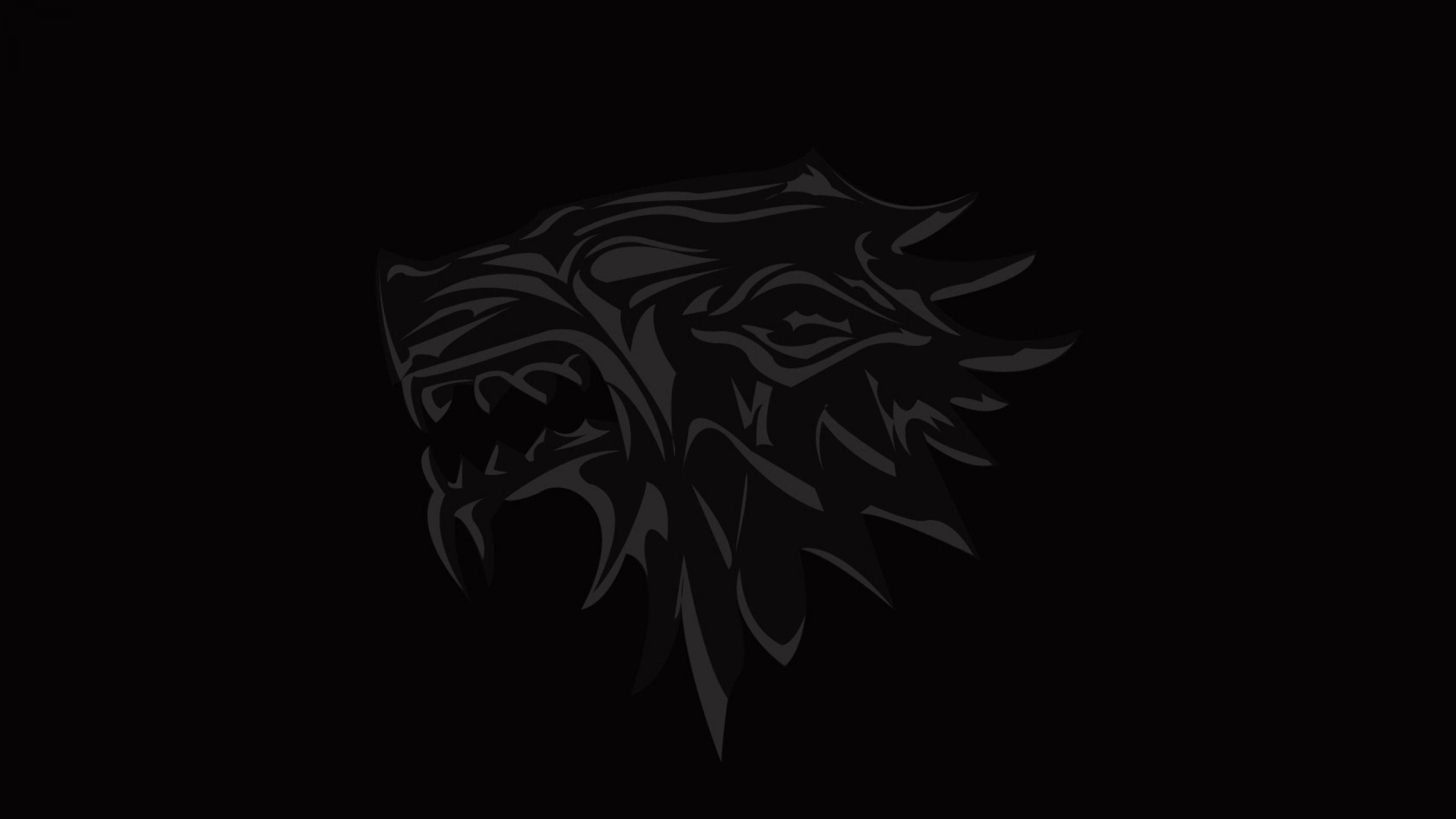 3840x2160 Wallpaper House Of Stark Game Of Thrones Logo Emblem Wolf Hd Wallpaper Wallpaper Desktop Wallpaper