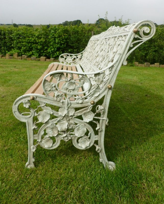 Awesome Coalbrookdale Nasturtium Pattern Garden Benches Pair Pdpeps Interior Chair Design Pdpepsorg