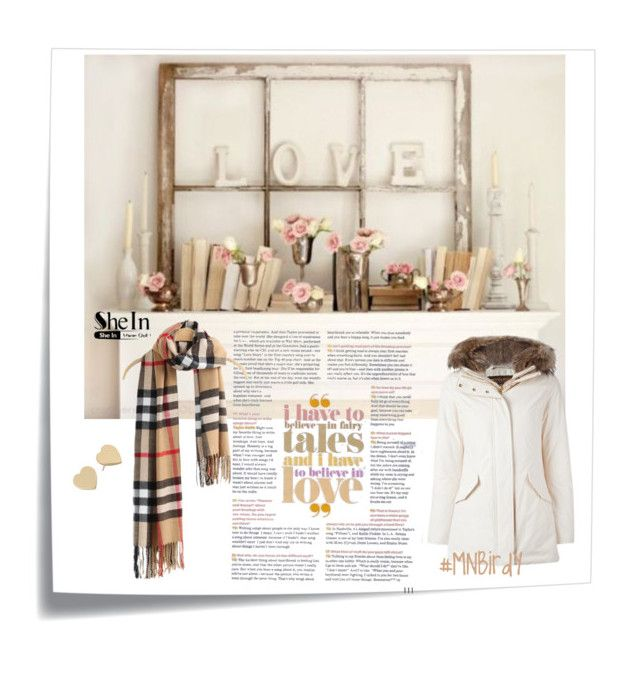 """""""Love Shein Khaki Plaid Scarves"""" by mnbirdy ❤ liked on Polyvore featuring Post-It, Kate Spade, Woolrich, women's clothing, women's fashion, women, female, woman, misses and juniors"""