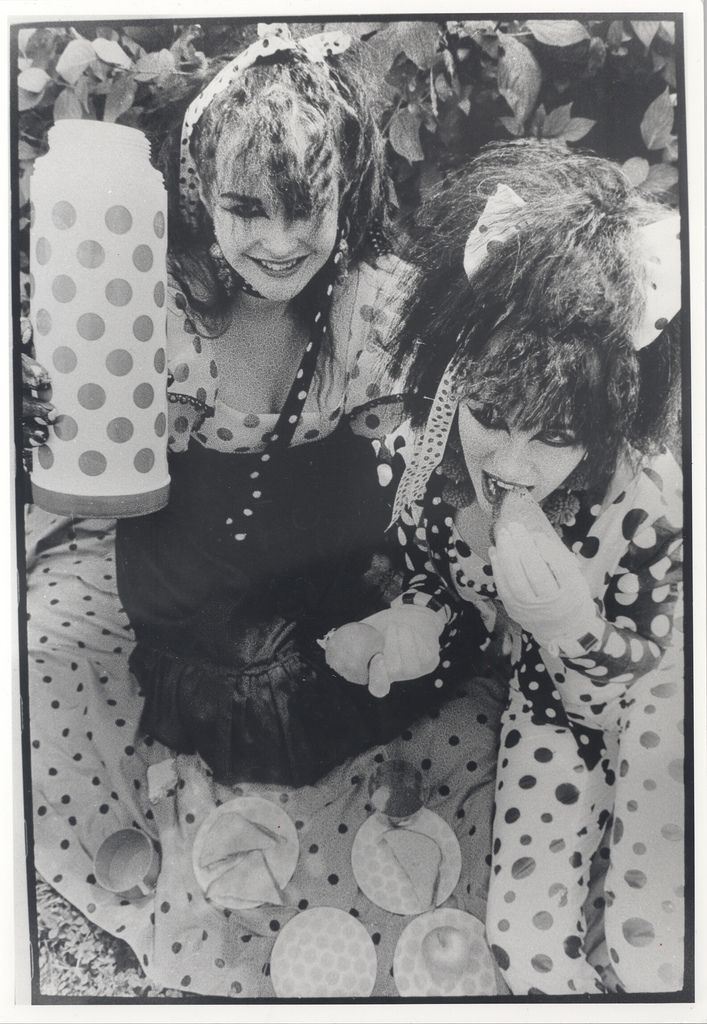 #Strawberry #Switchblade  +†+  #doom #pop #Rose #McDowall #Jill #Bryson #black #and #white #portrait #lethal #candy #lyrics #New #Wave #bubbly #beats #1980s #80s #style #icons