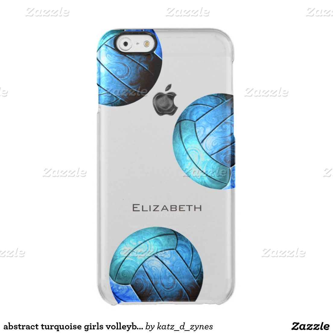 Blue Turquoise Girls Volleyball Uncommon Iphone Case Zazzle Com Volleyball Iphone Case Volleyball Phone Cases Iphone Transparent Case