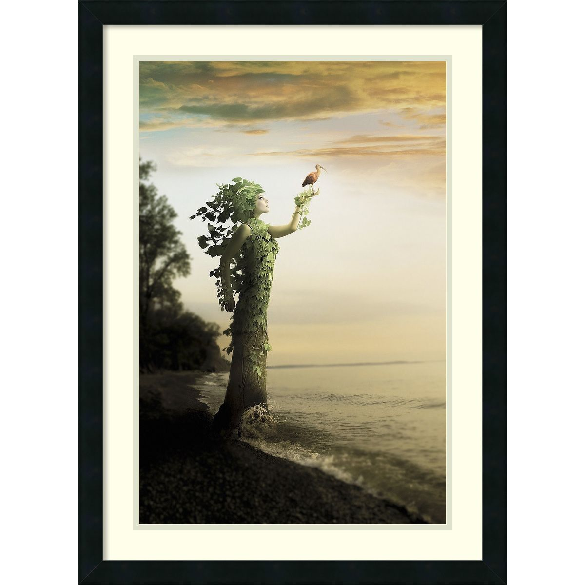 Framed Art Print 'Where the Trees Stand' by Jeff Madison 22 x 30-inch