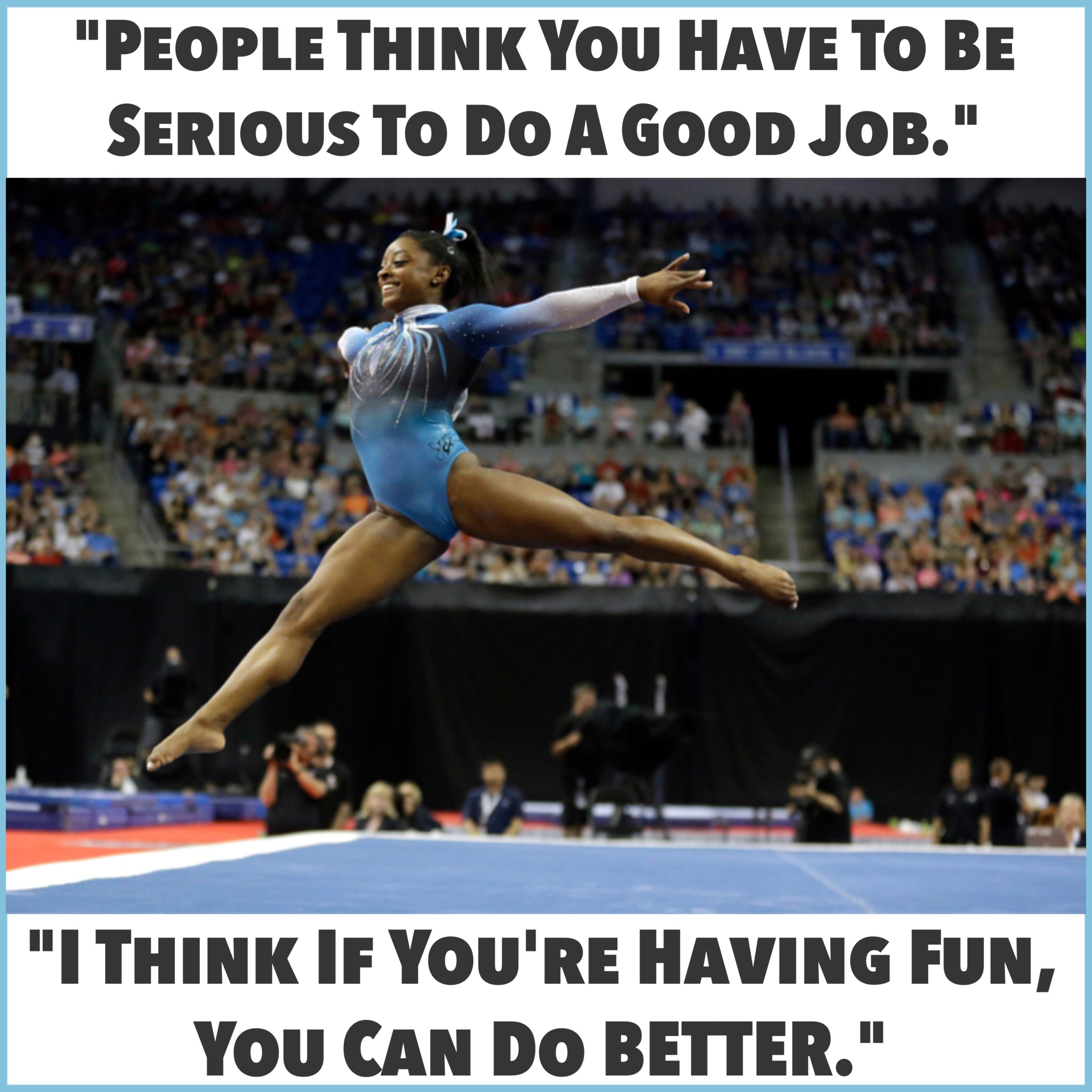 Atop the Gymnastics World Simone Biles Cant Suppress Her Grin