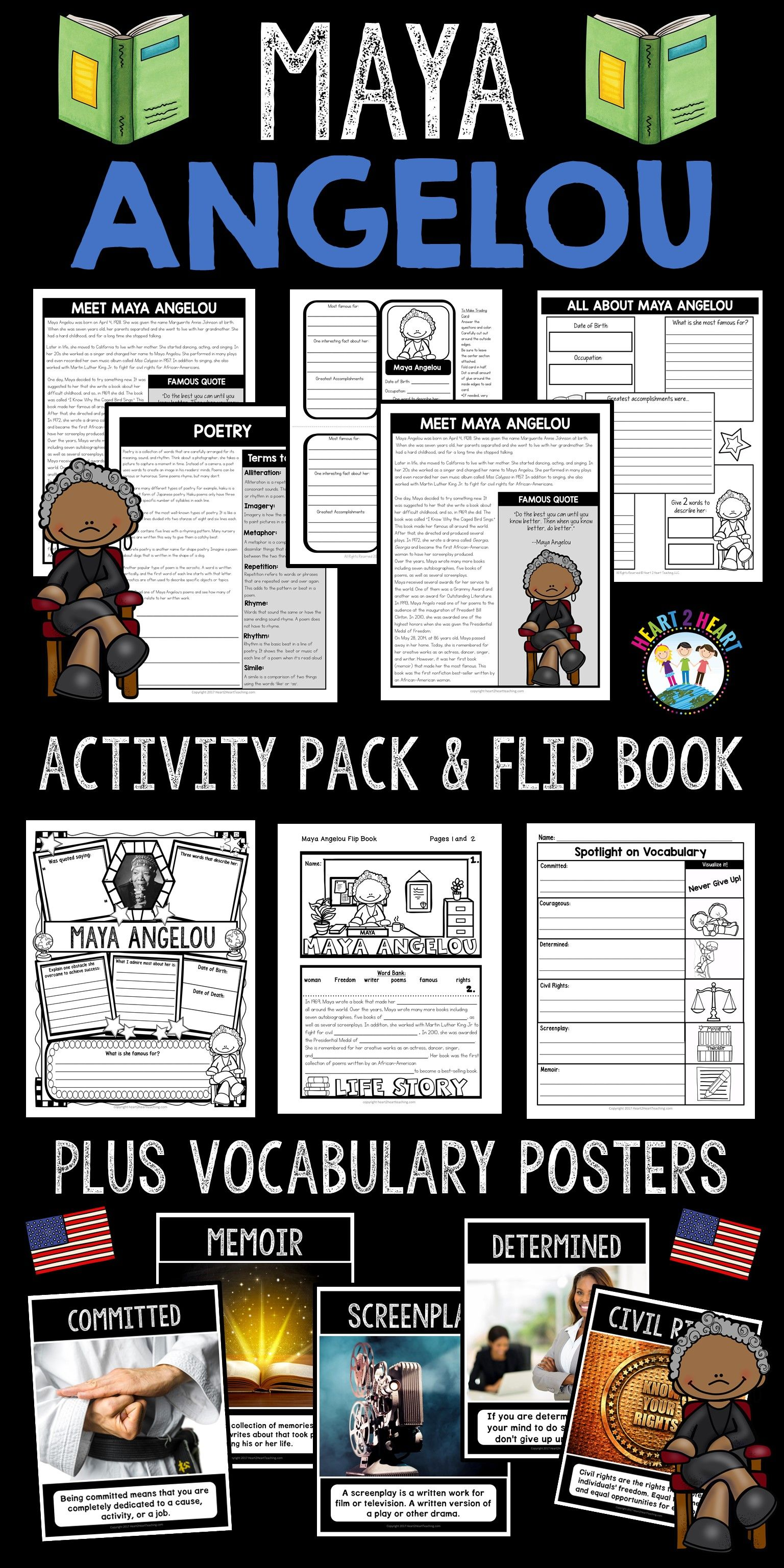 The Life Story Of Maya Angelou Activity Pack