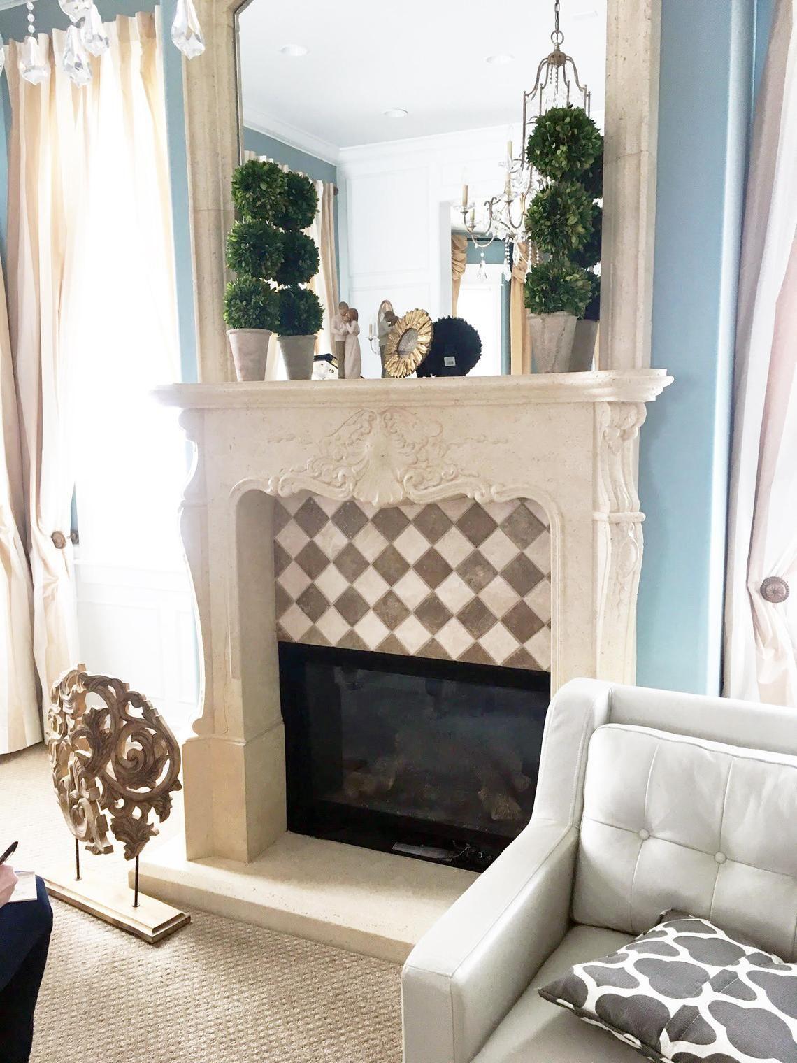 Rae Ella Stone Fireplace Mantel | Stone fireplace mantel ...