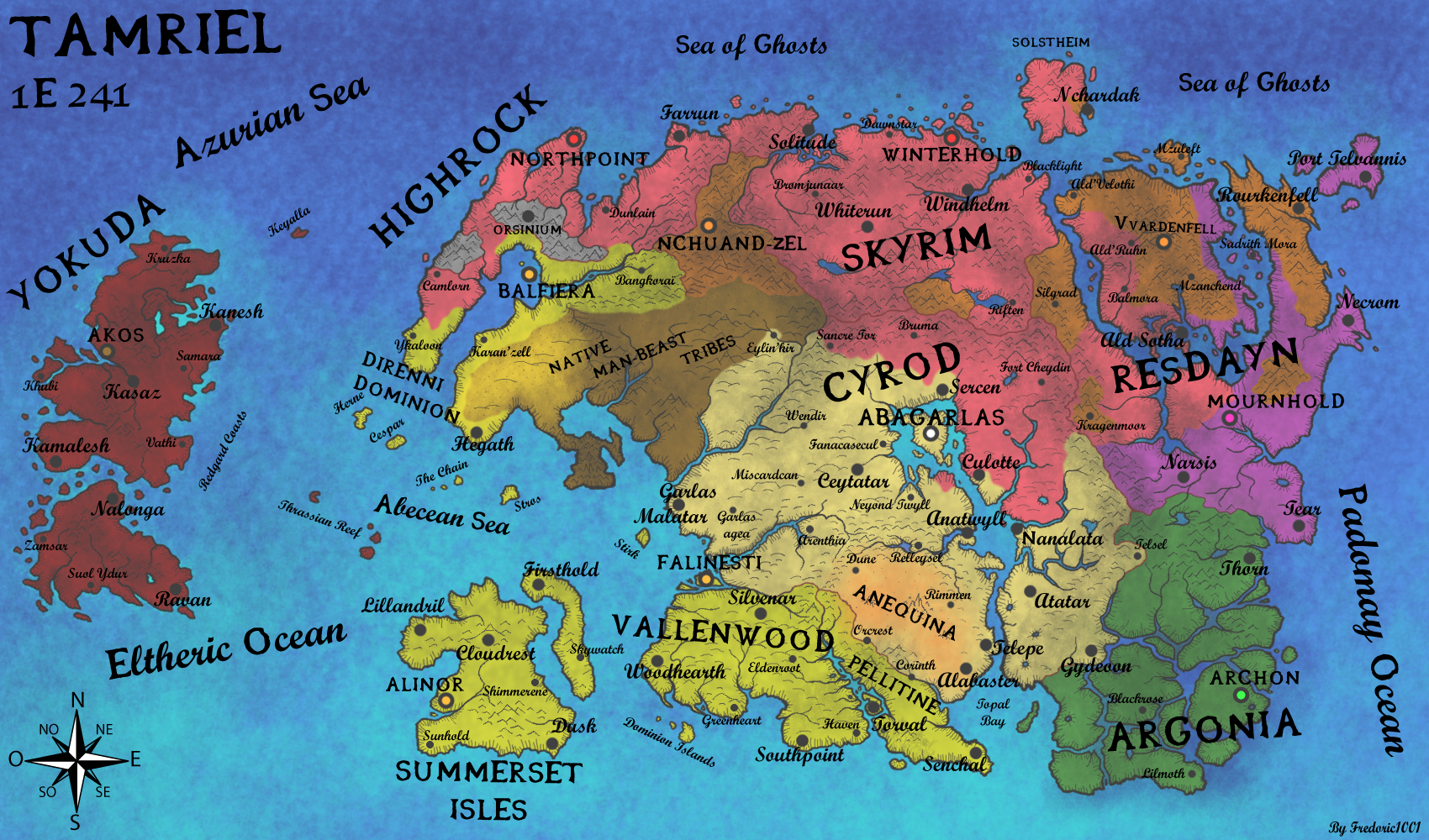 Geopolitical Map of Tamriel in 1E241 by fredoric1001 on DeviantArt ...
