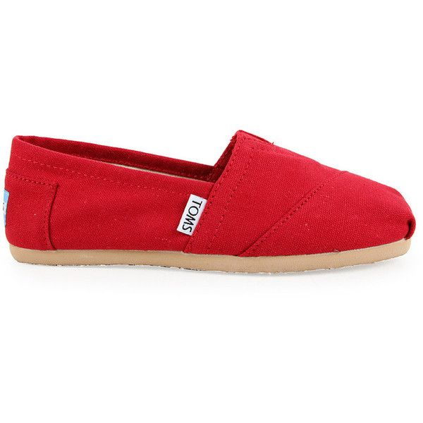 d8fd6d0da56 TOMS Womens Red Original Classic Canvas Shoes found on Polyvore ...