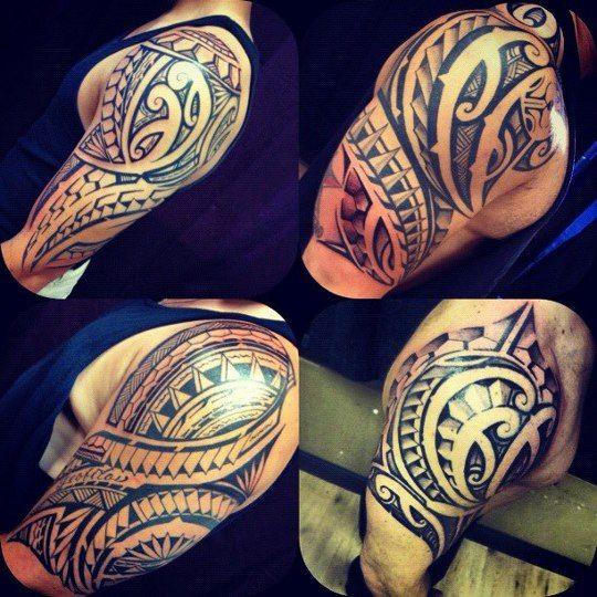 Tatouage polyn sien tatouage biceps grandiose pinterest tatouage tribal homme tatouages - Tatouage biceps homme ...