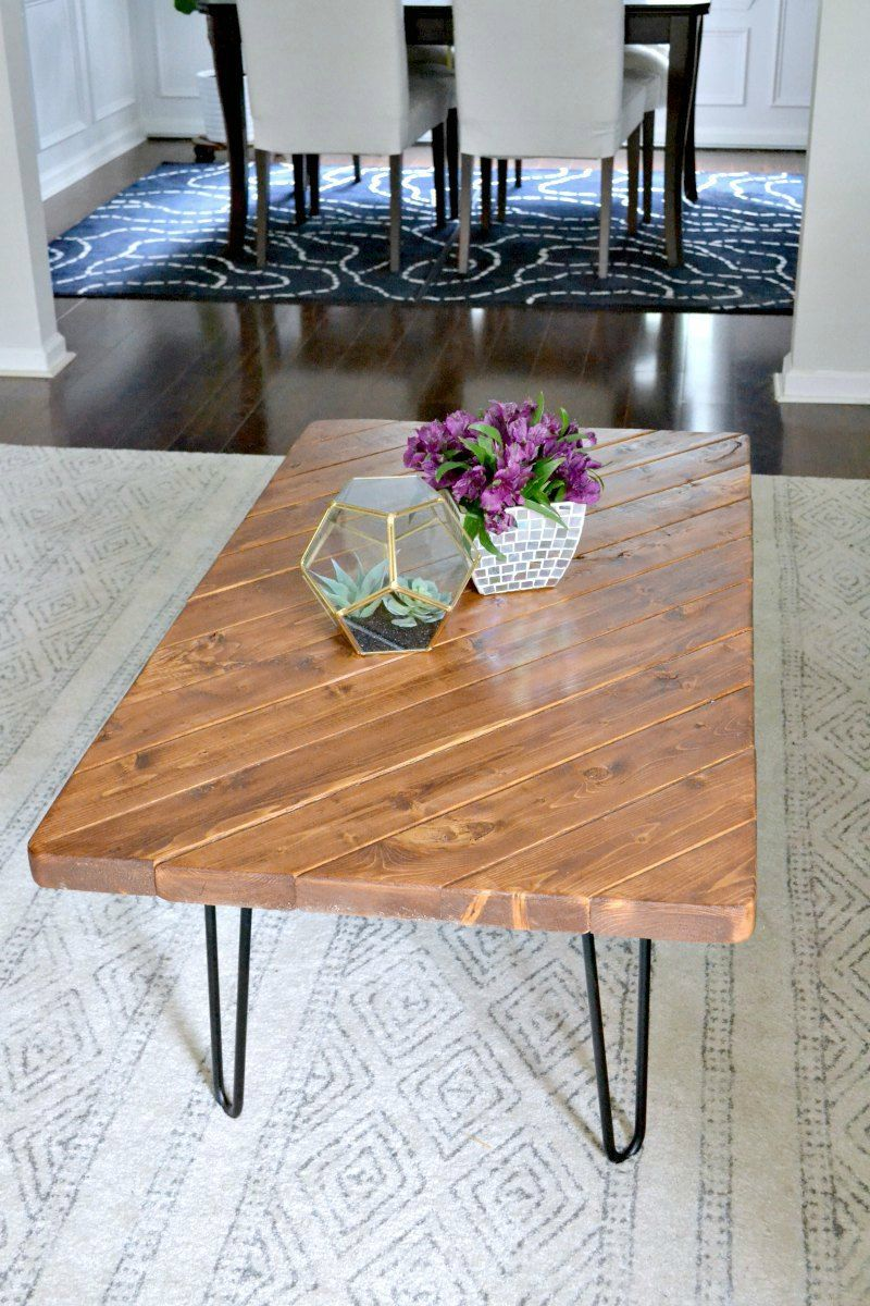 My 15-Minute DIY Hairpin Leg Coffee Table | Diy coffee ...