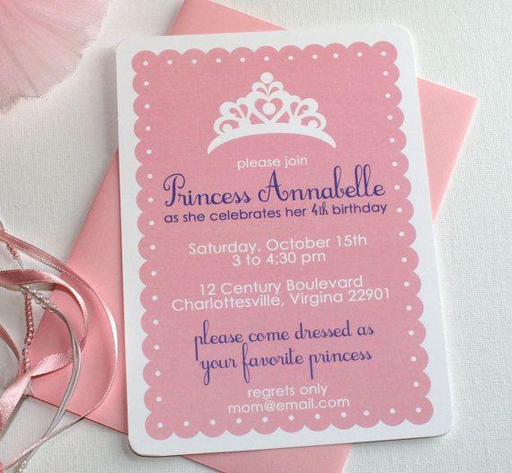 Princess Dress Up Party Birthday Invitations | Pinterest ...