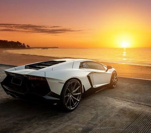 A #Lamborghini Aventador With A Sunset Takes Romantic To A