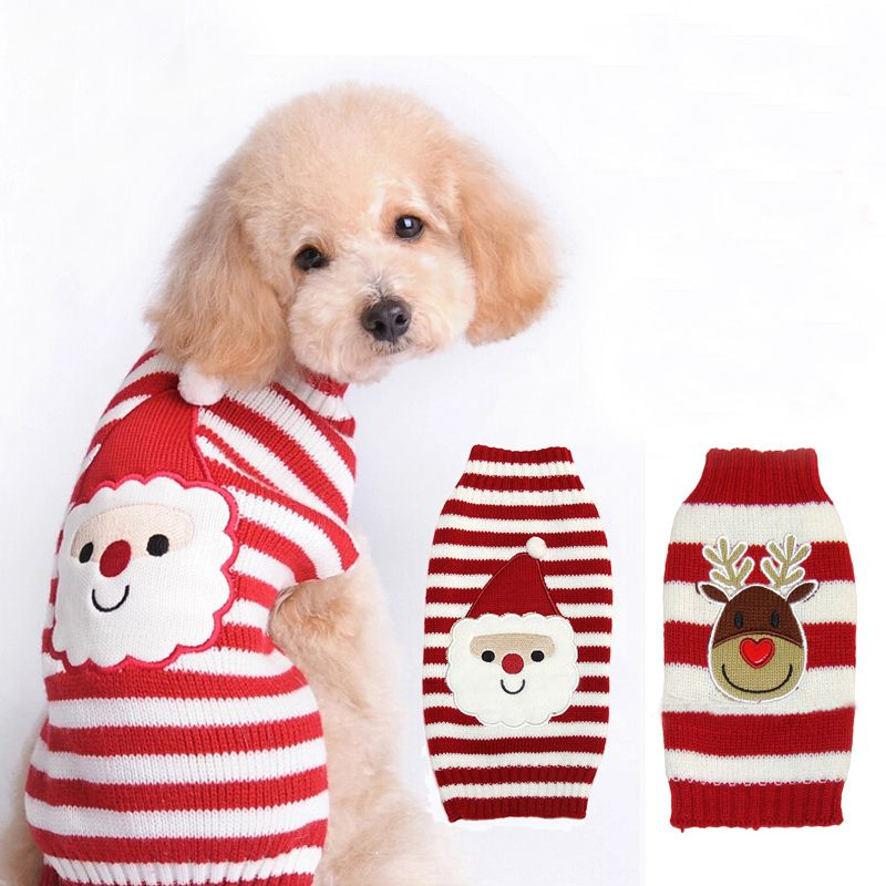 NACOCO Dog Sweater Cat Reindeer Xmas Christmas Pet Sweaters in Winter