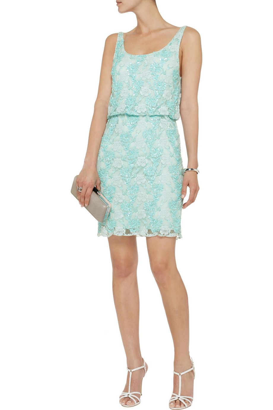 Alice + OliviaGabby embellished lace dressfront