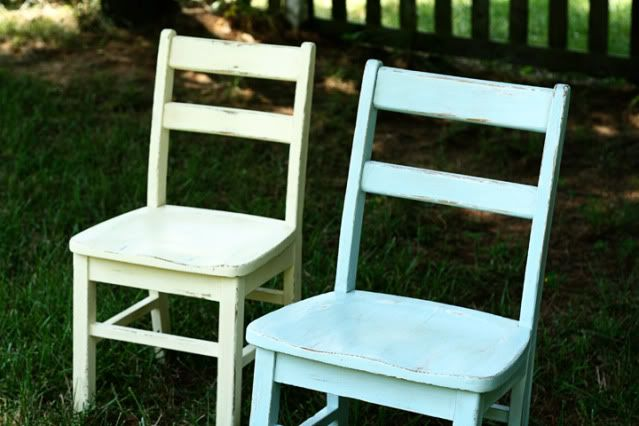 want to paint my chairs like this, but diff colors