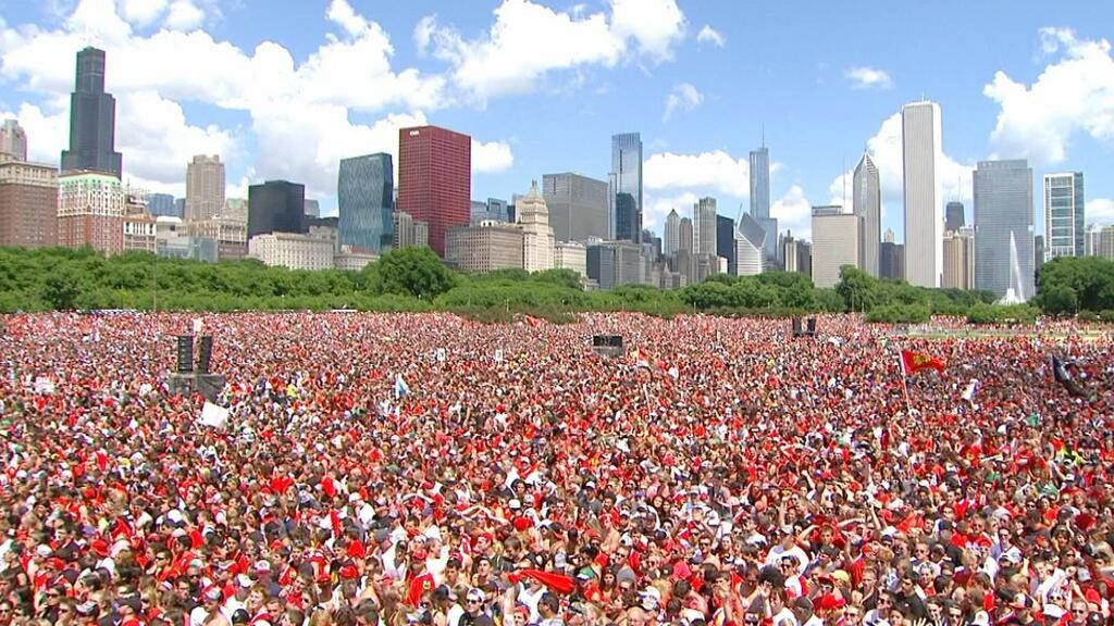 BEST FANS IN THE WORLD! #CHICAGO #BLACKHAWKS #StanleyCup #2013