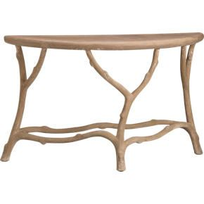 Faux Bois Console Table From Crate And Barrel. Great As An Entry Table For  Keys, Mail And A Stylish Lamp.