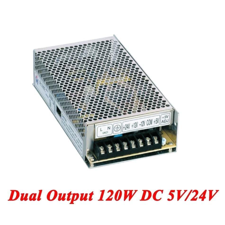 D-120B Switching Power Supply 120W 5V/24V,Dual Output Ac-dc Power ...