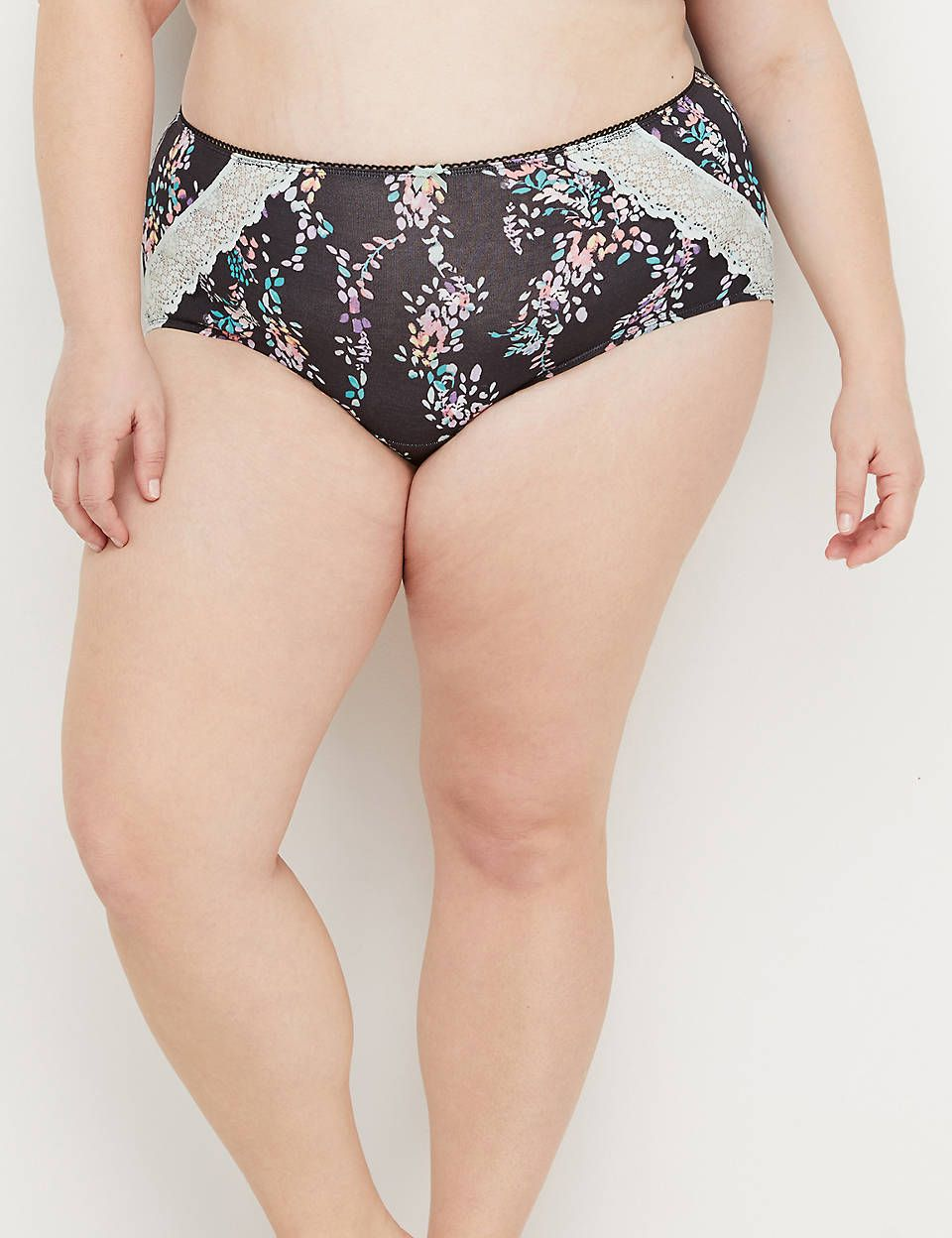 709809f3e7c Cotton Full Brief Panty with Lace-Trimmed Back