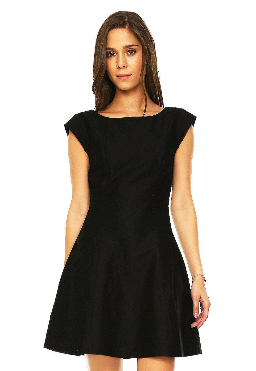 Aqua and black dresses