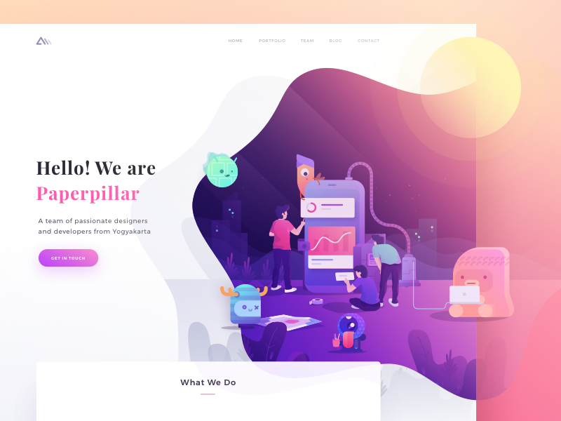 Paperpillar Landing Page Exploration Website Design Web Development Design Website Design Layout