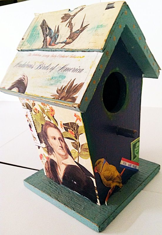 "Audubon ""Birds of America"" birdhouse"