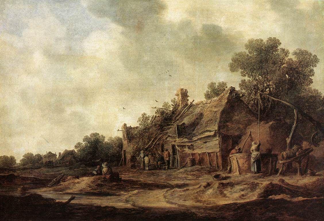 Jan van Goyen - Boerenhutten met waterput