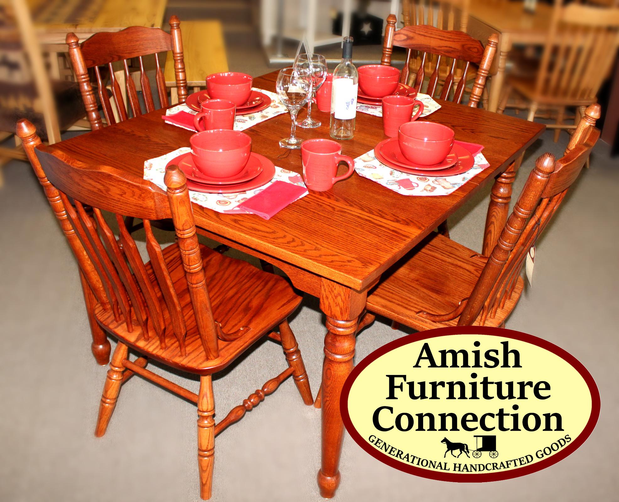 Harvest Oak Table U0026 4 Cattail Side Chairs; Bellefonte, ...