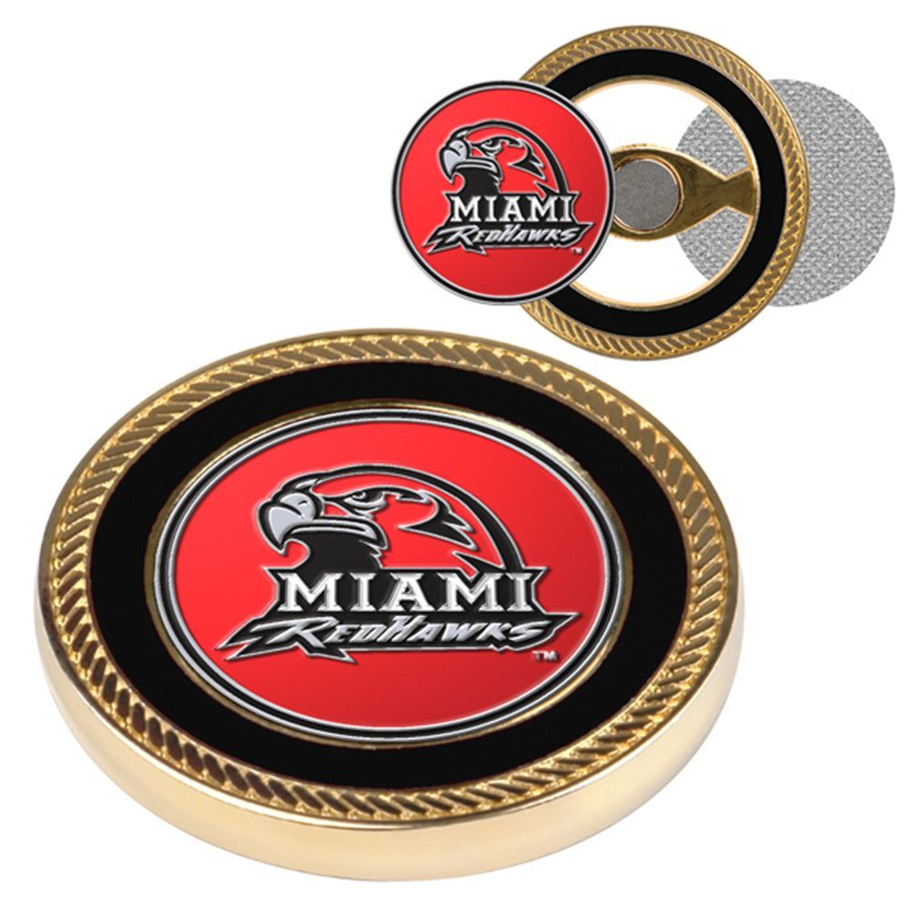 Miami Ohio Redhawks NCAA Challenge Coin Ball Markers