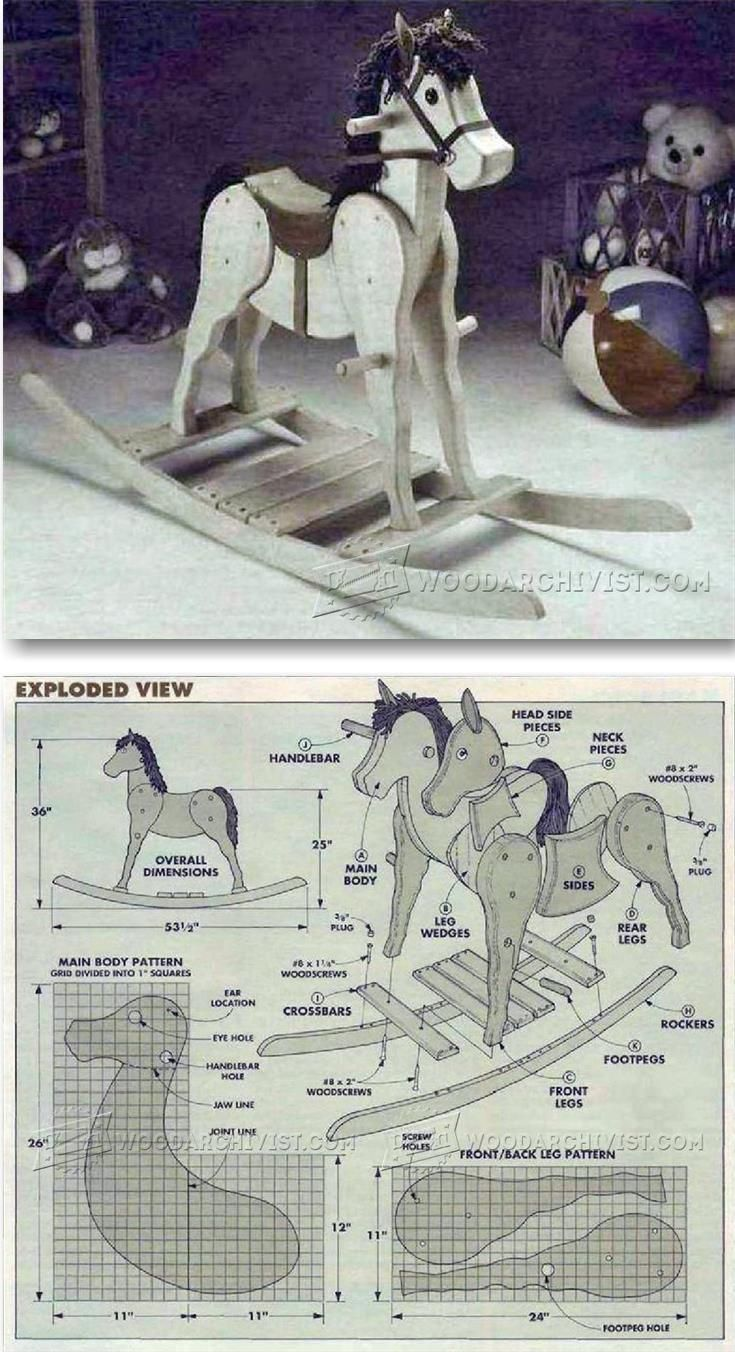 Wooden horse swing free patterns - Rocking Horse Plans Children S Woodworking Plans And Projects Woodarchivist Com