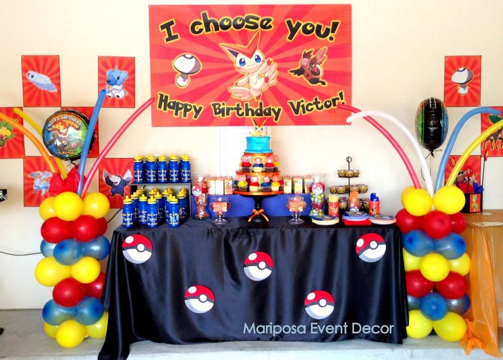 pokemon birthday party ideas anniversaire pokemon pok mon et anniversaires. Black Bedroom Furniture Sets. Home Design Ideas