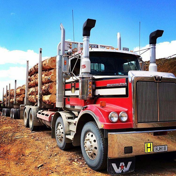 Western Star custom twin steer log hauler