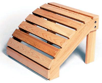 Adirondack Ottoman Plans Free Our Western Red Cedar