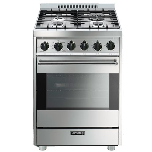 Smeg C24ggxu Stainless Steel 24 Inch Gas Range Compactappliance Com Small Kitchen Appliances Smeg Stove Italian Kitchen