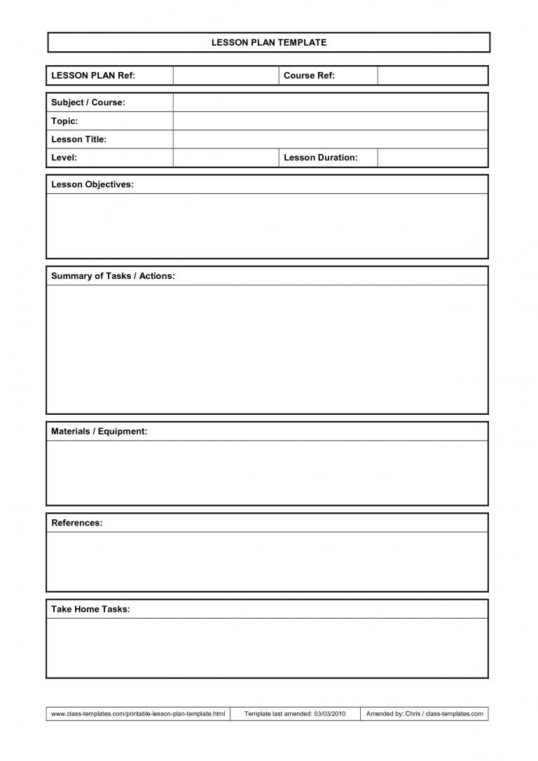 Lesson Plan Template School Stuff Pinterest Lesson Plan