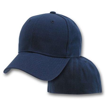 Big Size White 4XL FlexFit Baseball Cap BIGHEADCAPS