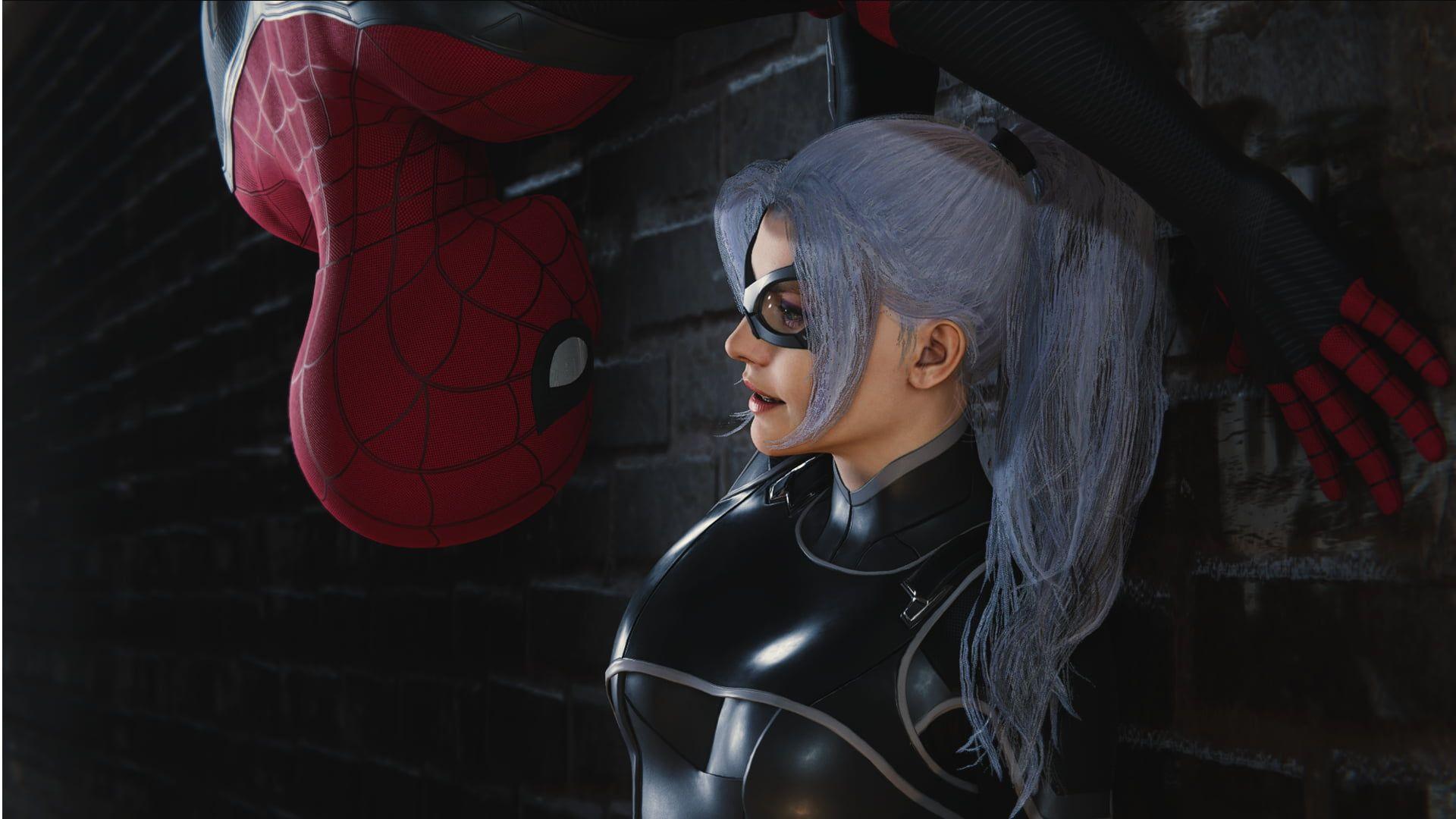 Spider Man Spider Man Ps4 Black Cat Marvel Comics 1080p Wallpaper Hdwallpaper Desktop Black Cat Marvel Comics Black Cat Marvel Spiderman
