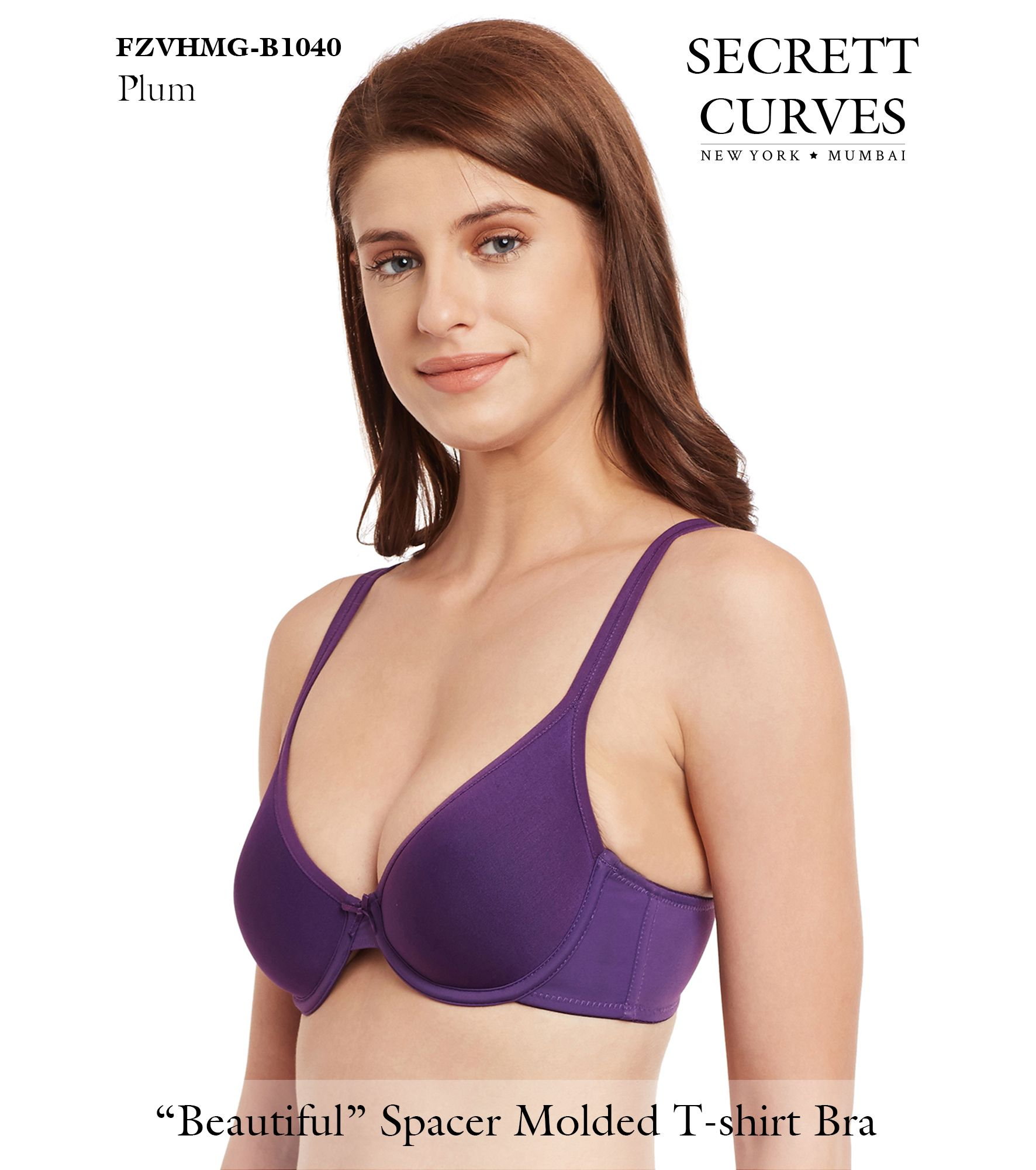 47afc3641 Secrett Curves Seduction Spacer Underwire Full Coverage Padded Cup T Shirt  Bra Seduction Spacer Bra by Secrett Curves from New York  Our Seduction  Spacer ...