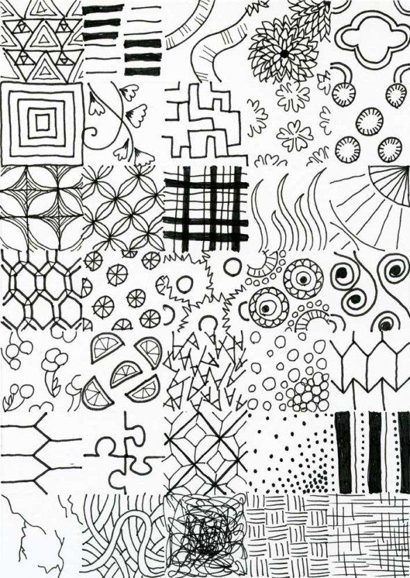 how to doodle art - Zentangle like - zentangle inspired ...