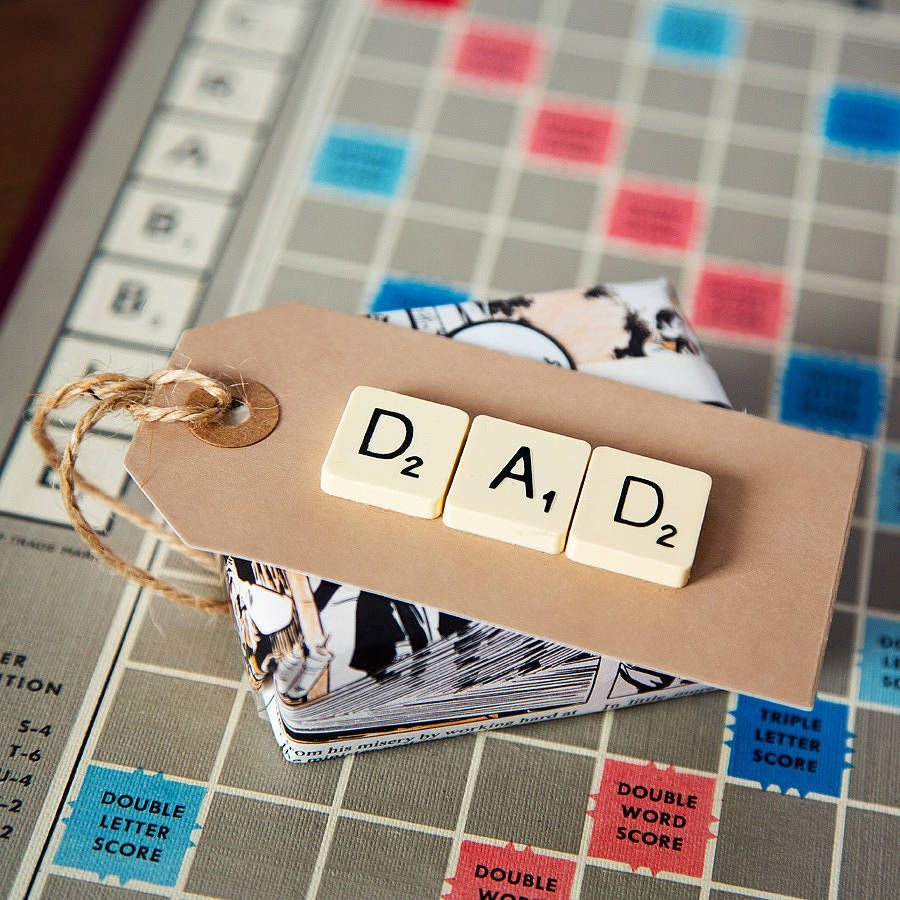 'Dad' Vintage Scrabble Gift Tag from notonthehighstreet.com