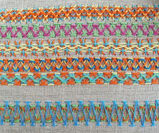 herringbone stitches
