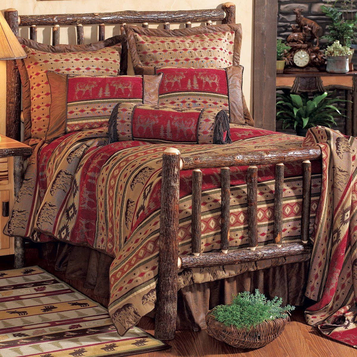 Adirondack Bed Set Rustic bedding sets, Full bedding