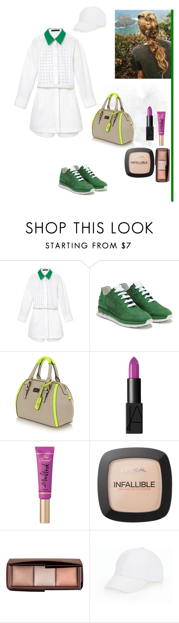 """Untitled #272"" by vykabackhand ❤ liked on Polyvore featuring Alexander Wang, Salvatore Ferragamo, NARS Cosmetics, Too Faced Cosmetics, L'Oréal Paris, Hourglass Cosmetics, Talbots, women's clothing, women and female"