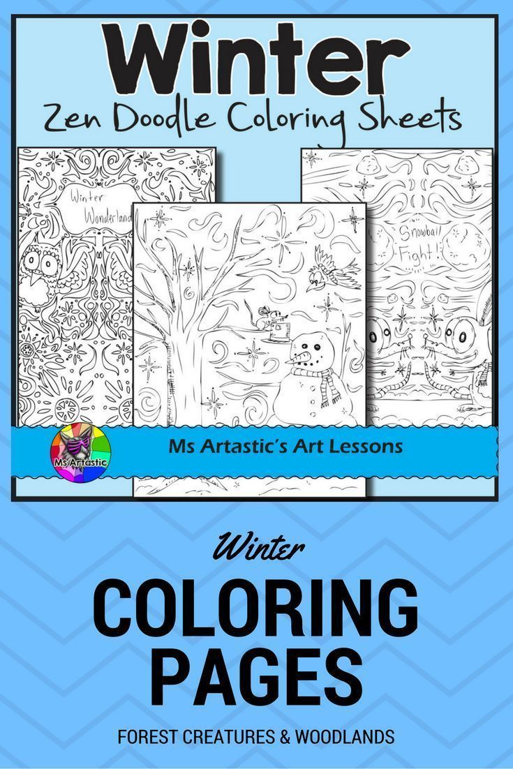 Winter Coloring Pages, Zen Doodles | Pinterest | Early finishers ...