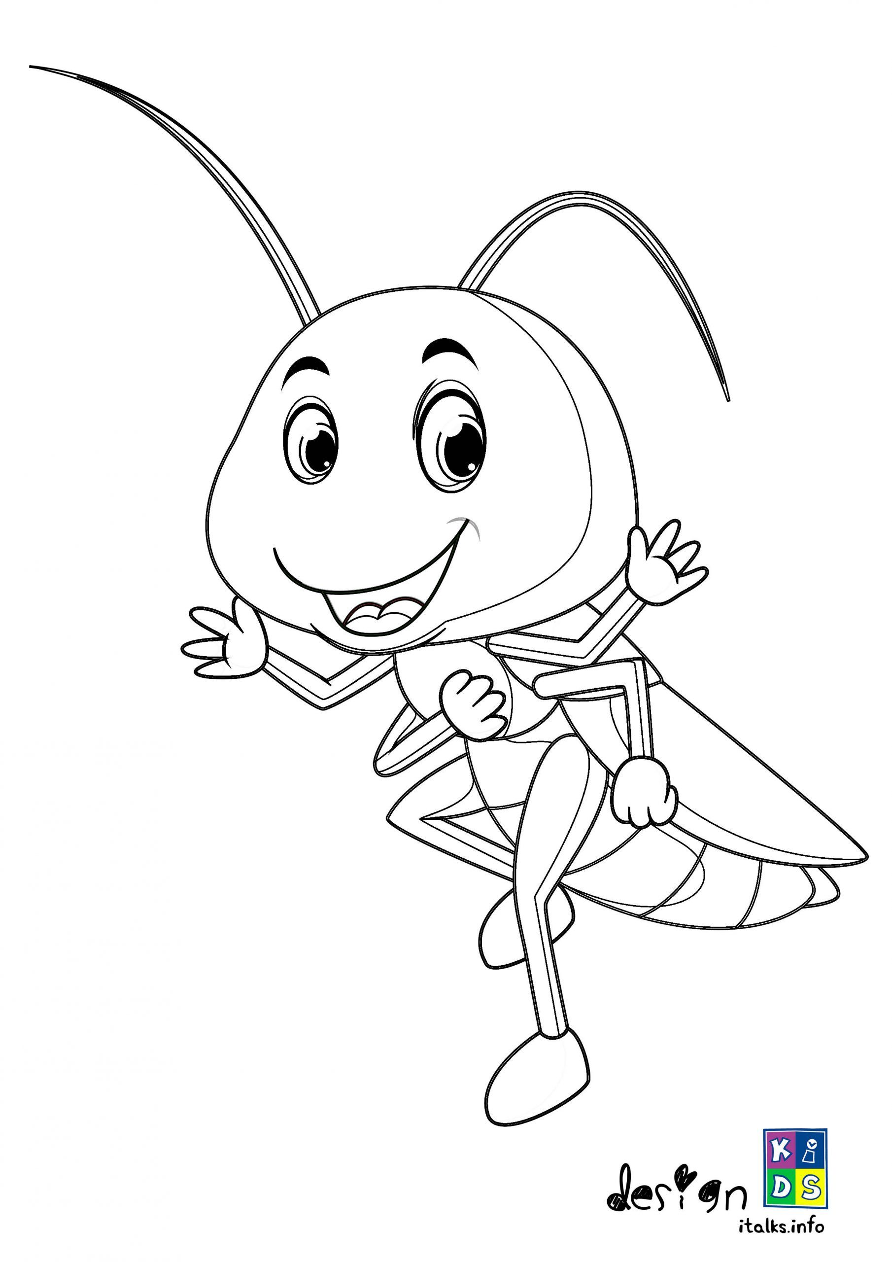 Funny Praying Mantis Coloring Page In 2020 With Images