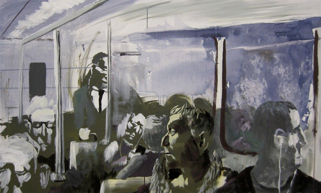 Transit by Borys Tarasenko.  Acrylic on canvas.  2011 Edmonton Timeraiser.