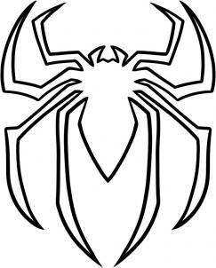 how to draw the spiderman logo spiderman symbol step 5 for my rh pinterest com Spider-Man Suit Designs Spider-Man Suit Designs