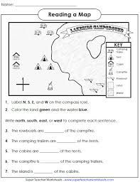 Super Teacher Worksheets Reading A Map Google Search With