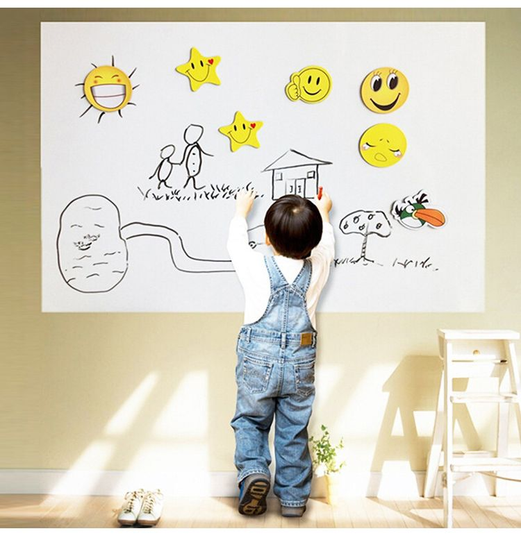 PVC Whiteboard Blackboard Kid Room Wall Sticker Erase Self Adhesive Chalkboard 1