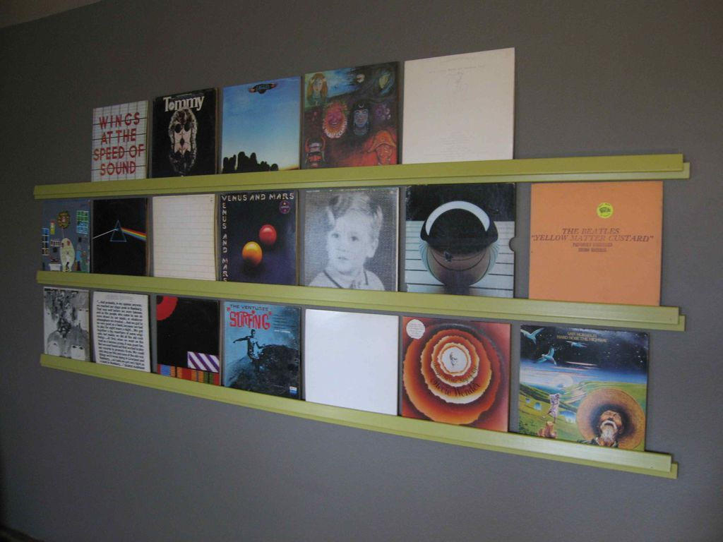 How to display vinyl records as art DIY project