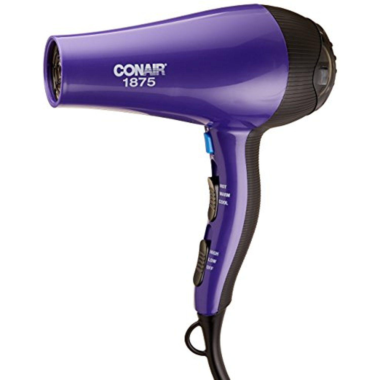 Conair 1875 Watt Style and Shine Hair Dryer; Purple